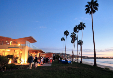 Guests mingling at last year's Seaside Soiree.